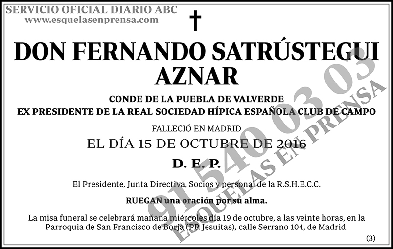 Fernando Satrústegui Aznar